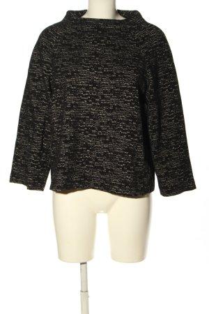 someday Oversized Pullover schwarz-hellgrau Allover-Druck Casual-Look