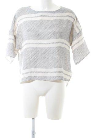 someday Top extra-large gris clair-blanc cassé motif graphique