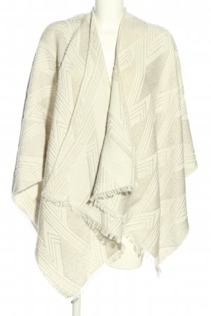 someday Ponczo biały-jasnoszary Graficzny wzór W stylu casual
