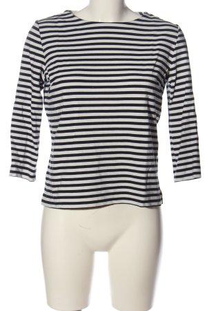 someday Ringelshirt schwarz-weiß Streifenmuster Casual-Look