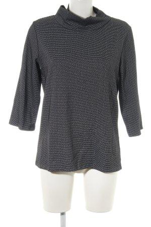 someday Jersey de cuello alto negro-color plata look casual