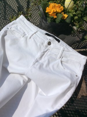 someday 7/8 Length Trousers white cotton