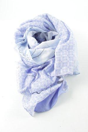 someday Sommerschal weiß-blau Allover-Druck Casual-Look