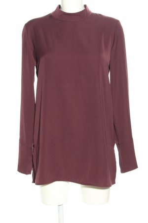 someday Stand-Up Collar Blouse brown casual look