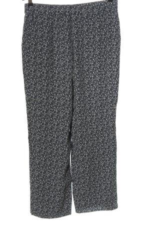 someday Stoffhose weiß-schwarz abstraktes Muster Casual-Look