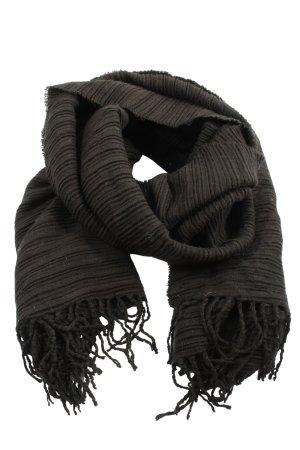 someday Écharpe en tricot noir style décontracté