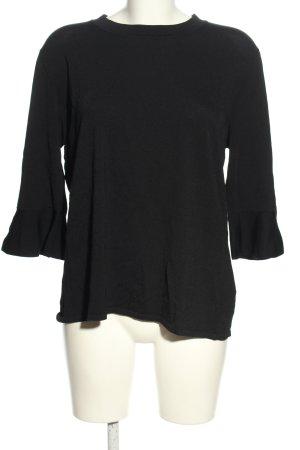 someday T-shirts en mailles tricotées noir style décontracté