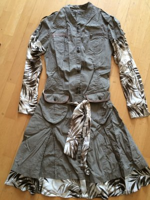 Vestido de camuflaje multicolor tejido mezclado