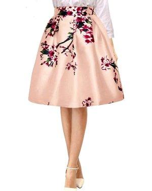 Allegra K. Flared Skirt multicolored