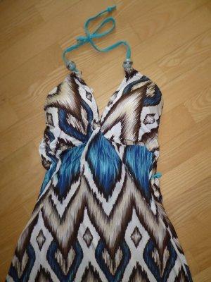 Sommer-Bade-& Strandkleid, sexy Dekollete`, macht eine TOLLE FIGUR, maritimes Muster