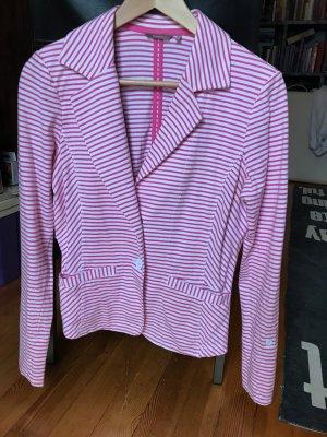 Sandwich Blazer in jersey bianco-rosa Cotone
