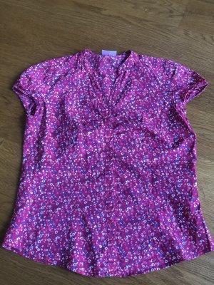 Sommer Bluse pink mit Blumen Größe 38