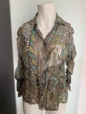 Sommer Bluse Seide-Baumwolle Gr 40 42 XL