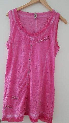 Tredy Vestito da spiaggia rosa Cotone
