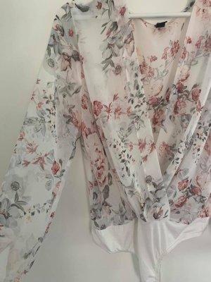Bodysuit Blouse pink-white