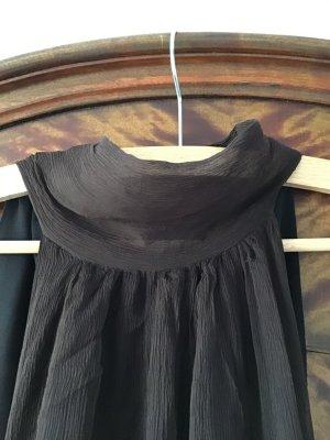 Zara Woman Halterjurk zwart bruin-donkerbruin Zijde