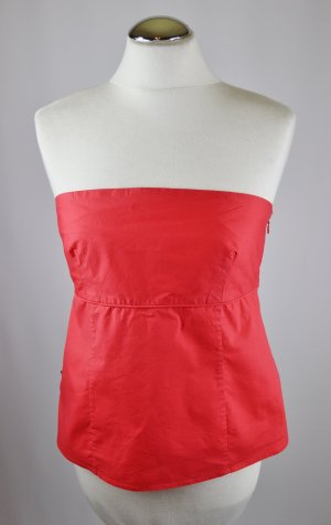 Sommer Corsage Top Bandeau Polo Jeans Company Größe XL 42 Hummer Rot Hellrot Baumwolle