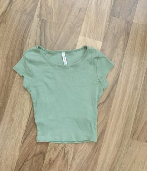 Fishbone Cropped Top lime-green-sage green