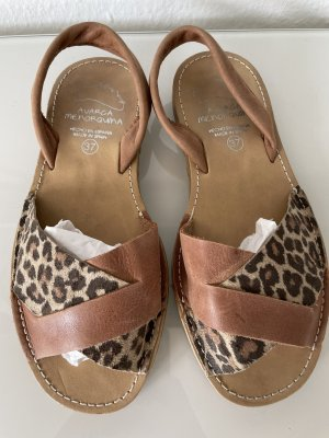 Sommer Echt Leder Sandalen gr 37 braun beige