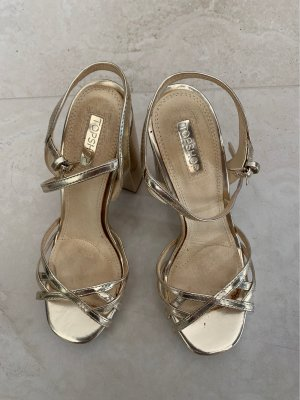 Topshop Toe-Post sandals gold-colored