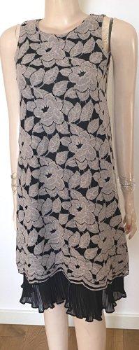Ana Alcazar Vestido línea A negro-gris claro Algodón
