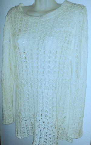 Sommer Häkelpullover in weiß