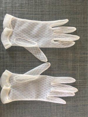 Net Gloves white nylon