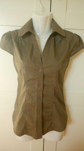 100% Fashion Camicia elegante marrone-grigio