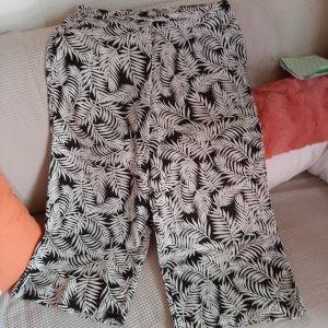Amisu Pantalone a 3/4 bianco-nero