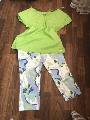 Sommer Hose 3/4 Länge 36/S, blau / Weiß / grün /neu