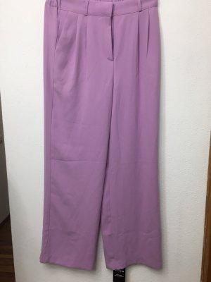 Lniane spodnie jasny fiolet