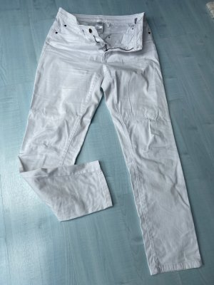 New York & Company Spodnie typu boyfriend biały