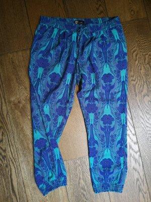 Anna Sui Spodnie 3/4 niebieski-ciemnoniebieski