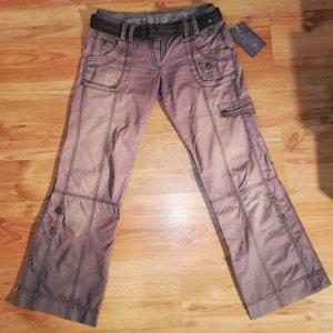 Zero Pantalon taille basse gris lilas-mauve