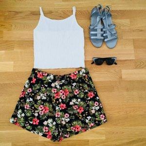 Sommer Hosen! Blumen Muster, high waisted Hosen