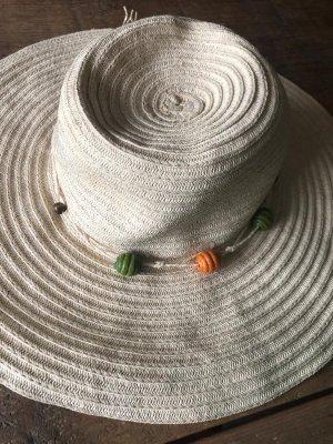 Port Louis Sombrero de ala ancha crema