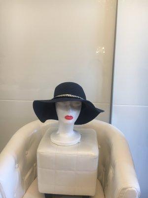unknown Sun Hat dark blue-silver-colored