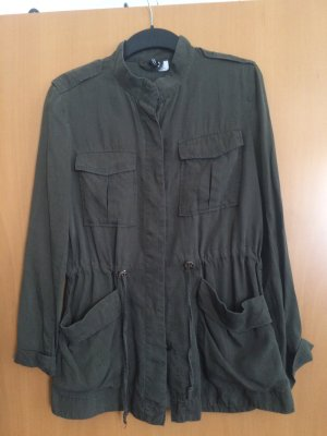 H&M Divided Safari Jacket green grey lyocell