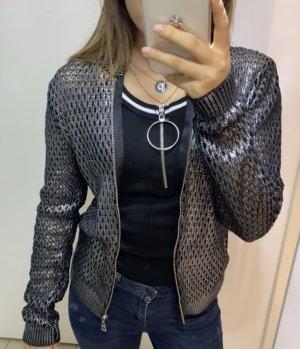 Zara Cardigan dark grey-black