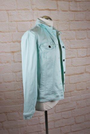 Cheer Denim Jacket baby blue-turquoise mixture fibre