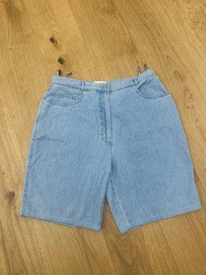 Cassani Short en jean bleu azur coton