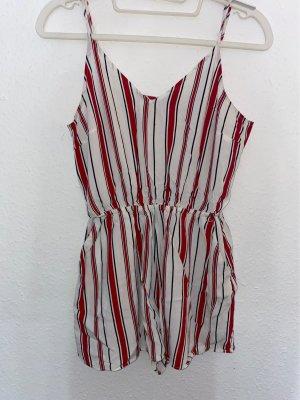 H&M Traje a rayas blanco-rojo