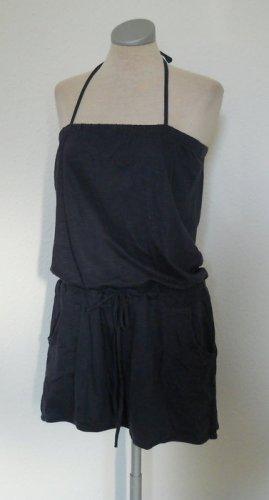 Sommer Jumpsuit blau Neckholder Jersey Gr. L XL 44 kurz Overall