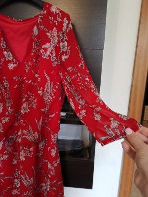 1.2.3 Paris Robe chiffon noir-rouge