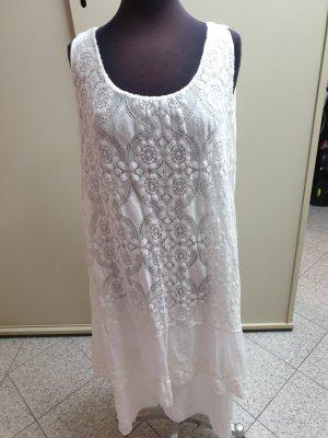 Made in Italy Vestido de encaje blanco