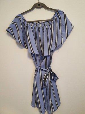 Colosseum Sukienka na jedno ramię biały-stalowy niebieski