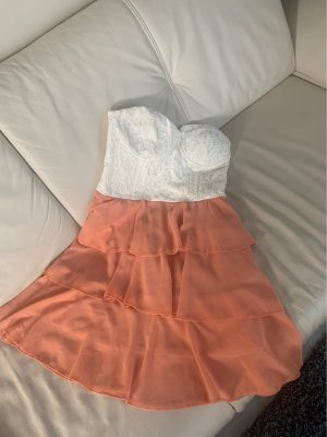 Danity Bustier Dress apricot-natural white