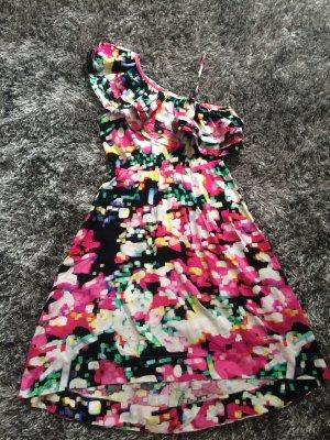 H&M Vestido de un hombro multicolor Viscosa