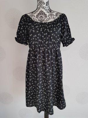 Sommer Kleid Blümchen Gr. M 38 schwarz
