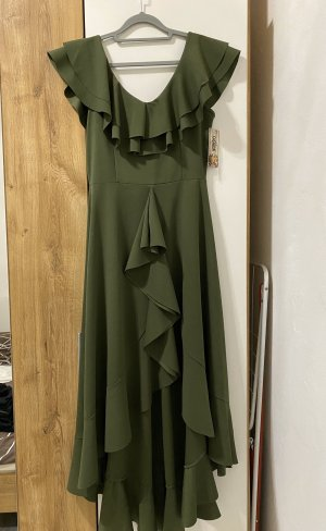 Flounce Dress olive green